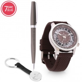 Silicone Watch & Pen Gift Set