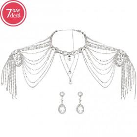 Shoulder Chain Eid Jewelry Set