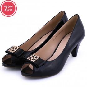 Black Peep Toe Shoes