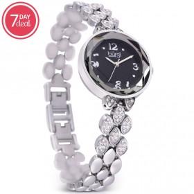 Ladies Silver Crystal Watch