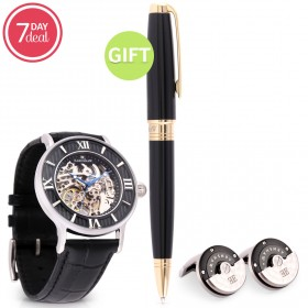 Eid Black Automatic Watch Gift Set