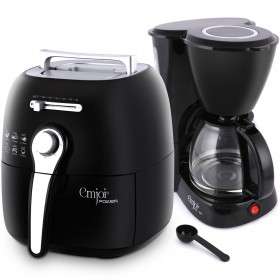 2.2L Air Fryer with Coffee Maker