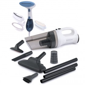 Pro Cyclone Vacuum Cleaner & Extreme Steam Handheld Garment Steamer