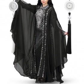 Asila Silver Black Jalabiya