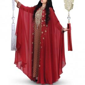 Asila Red Jalabiya