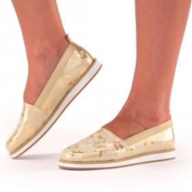 Gold Animal Print Sneakers