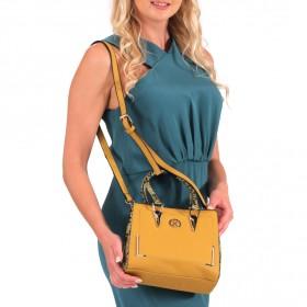 Yellow Animal Print Bag