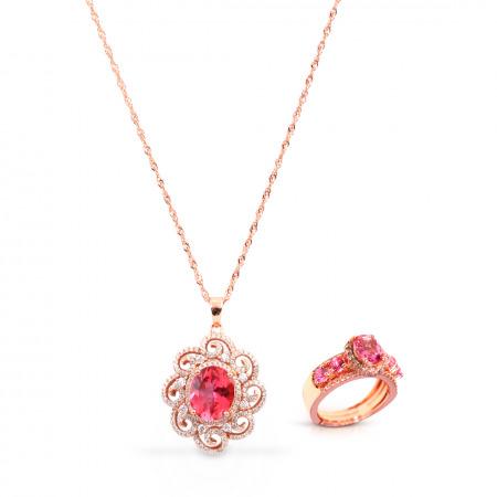 Red Topaz Jewelry Set
