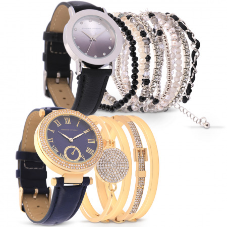 Luxury Watch Collection Set of 2 - Blue & Black