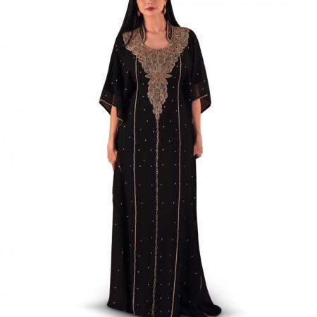Rima Black Jalabiya