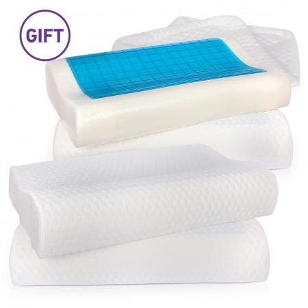 Coolgel Memory Foam King Pillow - Buy 2 Get 2
