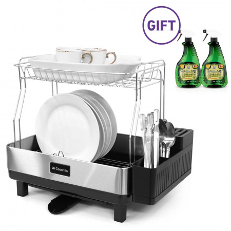 Stainless Steel Dish Rack with FREE Silver Nano set of 2