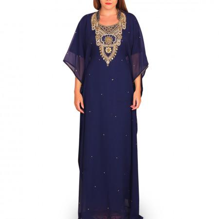 Al Najla Embellished Jalabiya - Blue