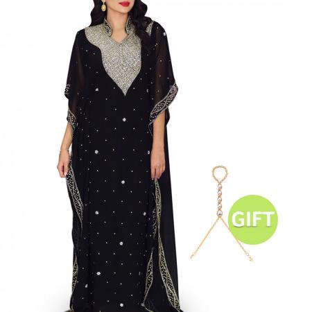 Al Anoud Black Jalabiya with Gift
