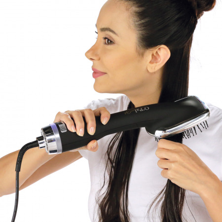 2 in 1 Hair Dryer with Hot Ion Straightening Brush