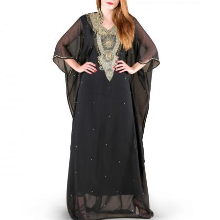 Ghalia Black Jalabiya
