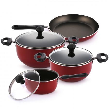 Aluminum Nonstick Cookware Set - 7 Pieces