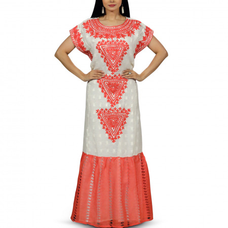 Folklore Coral Dress