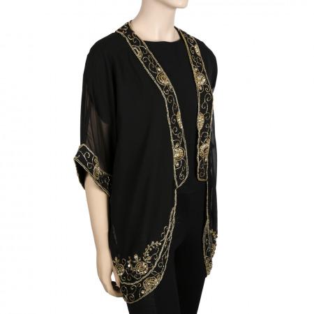 Black Jacket with Gold Embellishment