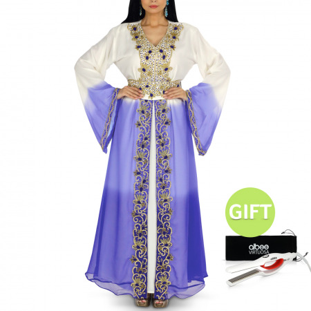 Ombre Blue Jalabiya with Gift