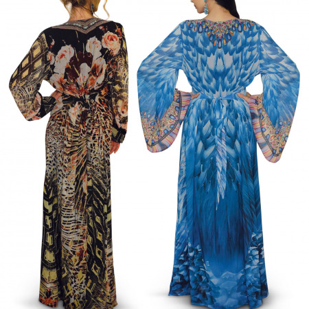 Abeer Jalabiya Collection Pack of 2 – Blue and Multi-colored