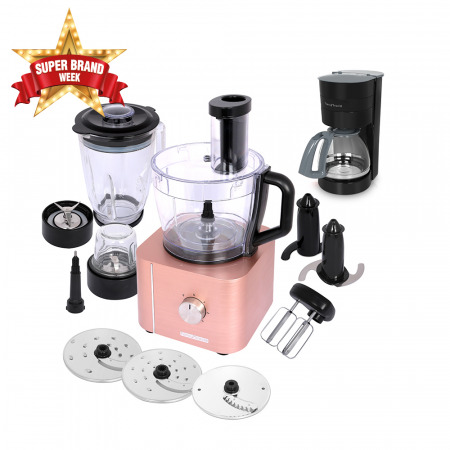 10-in-1 Food Processor HGM-405 - Rose Gold & FREE Drip Coffee Maker