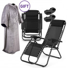 Zero Gravity Reclining Chair - Set of 2 With FREE Blanket