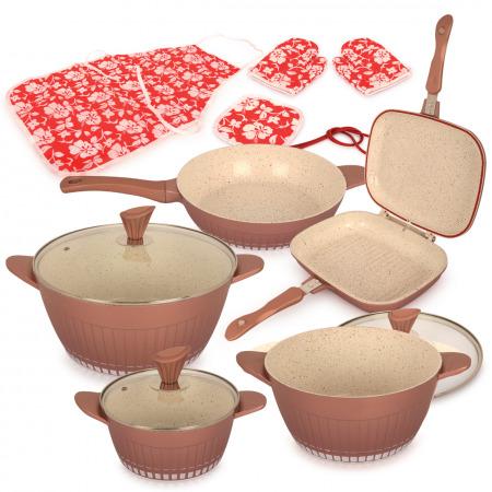 8 PCS Aurora Cookware set & Gift