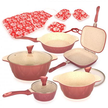 8 PCs Imagination Cookware Set - Pink