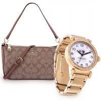 ساعة اليد الكلاسيكية مع حقيبة من كوتش