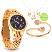 الساعات الذهبية الوردية من بورجي مع هدايا