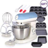 ماكينة مطبخ لقطع وخلط الطعام مع هدية - أزرق