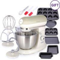 ماكينة مطبخ لقطع وخلط الطعام مع هدية - بيج