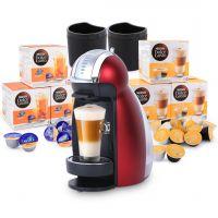 أشتري آلة القهوة جينيو 2 أحمر وأحصلي علي نيستيا بيتش و فانيلا لاتية ماتشياتو