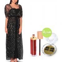فستان أوبرا رويال بلاك مع هدايا - كبير