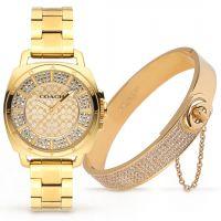 ساعة كوتش النسائية المصنوعة من الألماس مع هدية