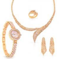 طقم مجوهرات ندى راب أراوند مع ساعة من تشارلز ديلون