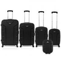مجموعة حقائب السفر فلاش 5 قطع أسود