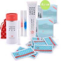 مجموعة تبييض الأسنان مع هدية