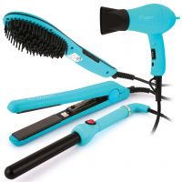 طقم مصففات الشعر (4 قطع) آزرق