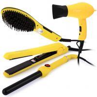 طقم مصففات الشعر (4 قطع) أصفر