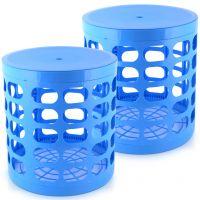 مجموعة 2 بوف متعدد الاستخدامات من كاسا باسيك - أزرق سماوى