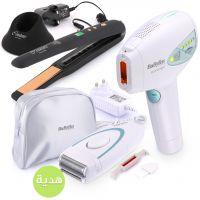 جهاز إزالة الشعر مع ماكينة حلاقة و مكواة تمليس شعر لاسلكية