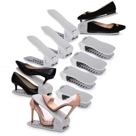 مُنظم أحذية مكون من 10 قطع - رمادي