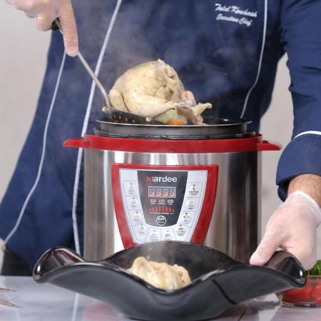 طنجرة الطهي بالضغط 6 لتر - أحمر