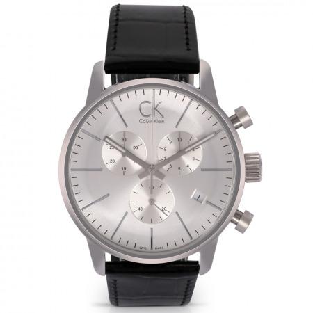 ساعة يد كلاسيكية للرجال بسوار جلد