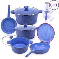 9 Piece Aluminum Diecast Cookware Set & Gift