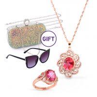 Red Topaz Jewelry Set & Gifts