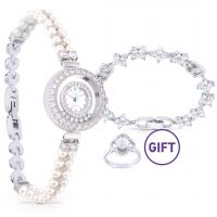 Pearl Band Wristwatch - Silver & Gifts