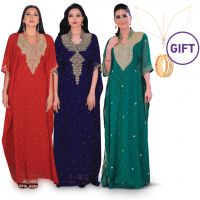 Al Sana Embellished Jalabiya - Pack of 3